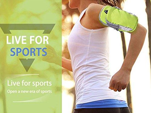 E-Kauf unsex multifunktional Sportarmband mit Tasche für Joggen Radsport Wandern und Fitness Gelb