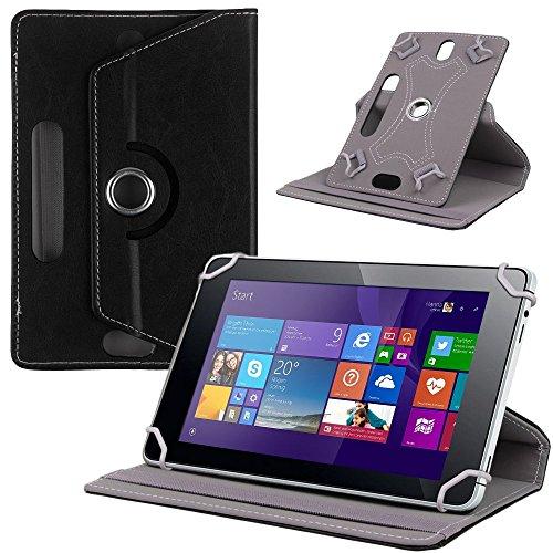 NAUC Tasche Hülle für ODYS Ieos Quad 10 Pro Schutzhülle Tablet Cover Case Bag Etui, Modellauswahl:Schwarz 360° mit Univ. Kameraausschnitt