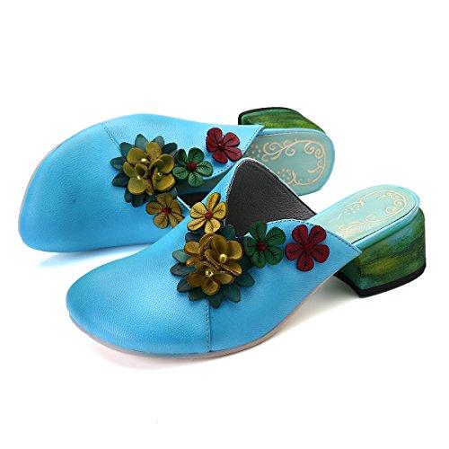 Gracosy pantofole in pelle donna sandali mocassini con tacco blocco donna estive casual scarpe leggero traspirante pantofole sandali con zeppa outdoor sandali piatti giardino zoccoli pantofole