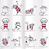 Tatkraft Funny Cats Cortina Ducha 180 X 180 cm material PEVA 12 Anillos