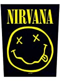 Nirvana Smiley Back Patch Black 29 x 36cm