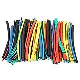 100pcs Assortiment de Tubes Thermorétractables 5 Tailles 5 Couleur Ensemble de Manchon Isolé de Câble Métallique 100mm