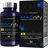Magnify Magnesium Blend - 5-in-1 Supplement with Magnesium Glycinate, Magnesium Taurate, L-Theanine, Zinc