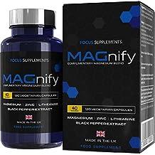 MAGnify - Complemento de Magnesio - 5-en-1 Suplemento con Glicinato de Magnesio