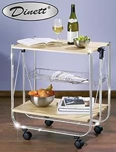 Wenko 713001500 carrello cucina e portavivande dinett for Amazon carrello portavivande pieghevole