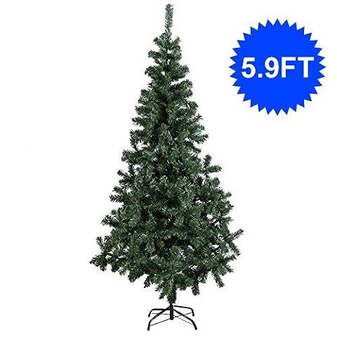 Weihnachtsbaum Tannenbaum Christbaum Kunstbaum Künstlicher Weihnachtsbaum Dekobaummit Metallfuß Grün verschieden Größen