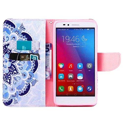 Coque IPhone 5 5S SE,Etui IPhone 5 5S SE,Vandot Housse pour IPhone 5 5S SE PU Cuir Portefeuille Case Cas Skin Swag Smartphone Accessories Super Protection Protecteur D'écran Bumper Couvrir Couverture  fleur totem