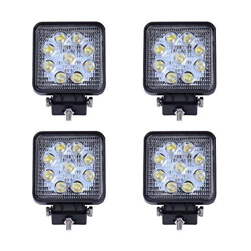 SAILUN Arbeitslicht 4x27W LED Offroad Flutlicht Spotlight Reflektor Scheinwerfer Arbeitsscheinwerfer 1755LM Schwarz Aluminium Druckguss IP67 (4*27W Quadrat)