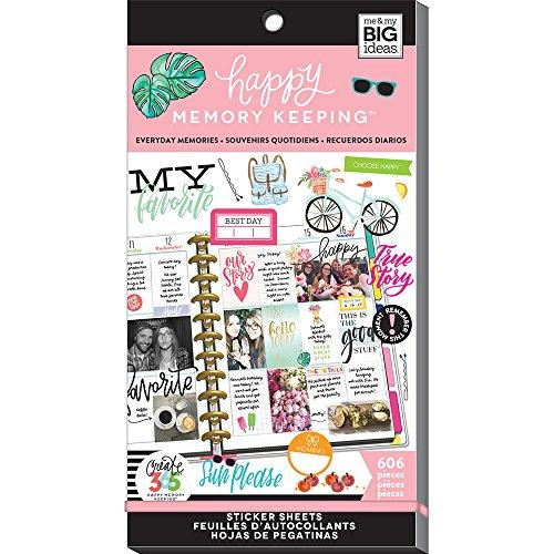 Unbekannt Me & My Big Ideas mamppsv3048.29365Big Everyday Erinnerungen HMK Aufkleber Value Pack