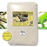 25 kg Terrariensand NATUR BEIGE weich & rund geprüfte Qualität 0,5-1,0 mm