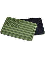 Hazard 4 3D USA Flag Moral Patch (Bras Gauche) Olive Vert