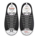 Leoboone Coolnice 1Set / 16Pcs Shoelaces Neuheit No Tie Schnürsenkel Unisex elastische Silikon-Schnürsenkel für Männer Frauen Alle Sneakers Fit Strap