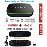 OVIBO Android 7.1 Smart TV Box Mini Desktop PC 4K Media Player 2GB Ram Bluetooth & WiFi Hotspot with Air Mouse Keyboard Remote Control