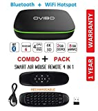 #2: OVIBO Android 7.1 Smart TV Box Mini Desktop PC 4K Media Player 2GB Ram Bluetooth & WiFi Hotspot with Air Mouse Keyboard Remote Control