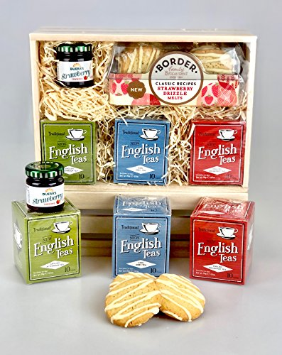 Tea Lovers Hamper Box - Tea Afternoon, Breakfast, Earl Grey -Unique Gift - Female or Male - His Hers Valentine's Day, Valentine, Good Luck,Fathers Day, Birthday, Get Well, Anniversary, New Home, Thank You, Father's Day, Sharing, Well Done, Graduation, Cor
