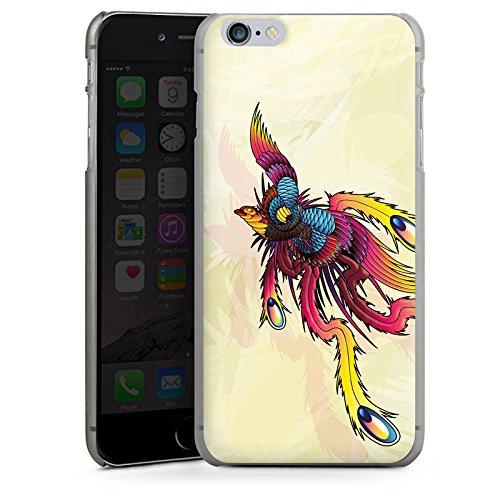Apple iPhone X Silikon Hülle Case Schutzhülle Phoenix Feder Kunst Hard Case anthrazit-klar