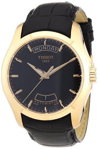 Tissot Herren-Armbanduhr COUTURIER Leder, Rose Gold T0354073605100