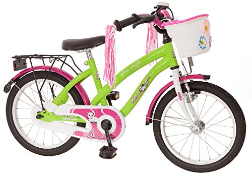 Bachtenkirch Kinder Fahrrad Dream Cat, hell-grün/purpur, 16 Zoll, 1300442-DC-93