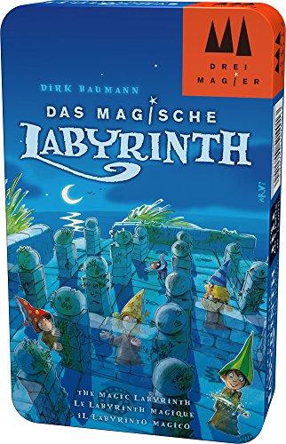 Hans im Glück Schmidt Spiele DREI Magier Spiele 51401 Das Magische Labyrinth, DREI Magier Reisespiel in der Metalldose, bunt