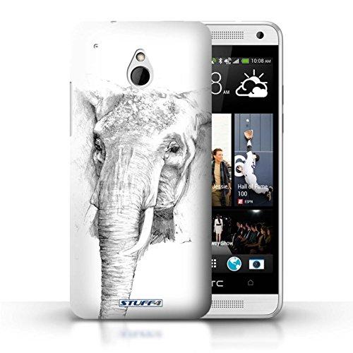 Kobalt® Imprimé Etui / Coque pour HTC One/1 Mini / Léopard conception / Série Dessin Croquis éléphant