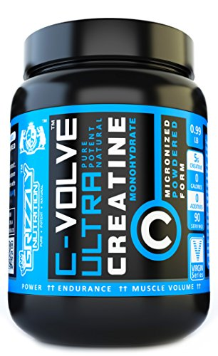 Grizzly Nutrition Pure Creatine Monohydrate Unflavoured – 450Gm 90 Servings