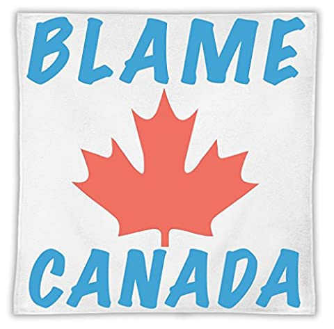 Blame Canada Mikrofasertuch MicroFiber Towel W/ Custom Printed Designs| Eco-Friendly Material| Machine Washable | 30x30 cm| Premium Bathroom Supplies By