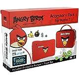 Kurio MERONCOURT Angry Birds Protectora Piel Bumper Pack de accesorios para 7–Rojo