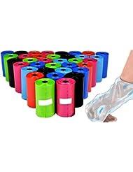 takestop Lot de 90pièces sacs sachets hygiéniques pour déjections chiens chats collecte selles couleurs aléatoires