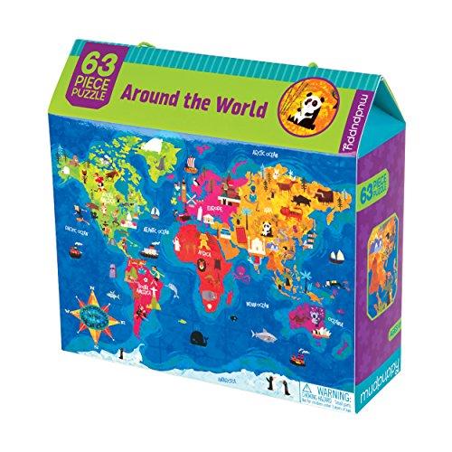 63 pezzo di puzzle : attorno al mondo