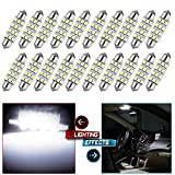 cciyu 20x Super White led 2835 12smd Bulbs 42mm Festoon Light Bulb epistar 214-2 212-2 569 6413 for 2006 2007 2008 2009 2010 2011 Chevy HHR Dome Light