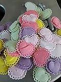 LINYATINGOSHOP Lot de 50 Petits Coeurs Différents Coloris 27 x 22 mm