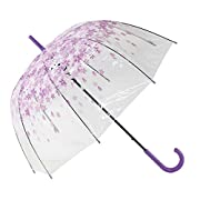 Opzioni Clearly Stylishly: La cupola di moda di Tianers Shape Rain Umbrella è ottima per passeggiare in folle come si può vedere attraverso di essa e rimanere a secco, e anche ottima da usare in giornate soleggiate, in quanto protegge la pell...