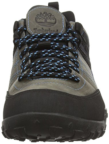 Timberland Greeley Leather with Goretex Membrane, Chaussures de Randonnée Basses Homme Gris (dark Grey)