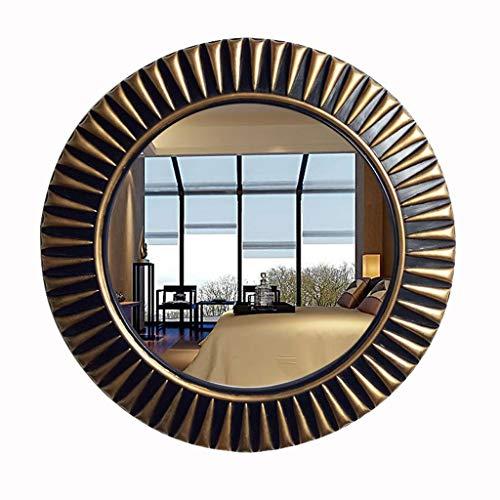 Zxwzzz Viento Industrial Espejo Redondo Espejo Decorativo Colgante de Pared Pasillo Espejo Belleza Espejo...