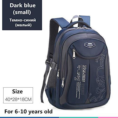 Schultasche für Kinderrucksack-Tasche Kinderschulsack Teen Junge Mädchen Hohe Kapazität wasserdichte Ausrüstung Kinderschultüte Mochila Klein dunkelblau