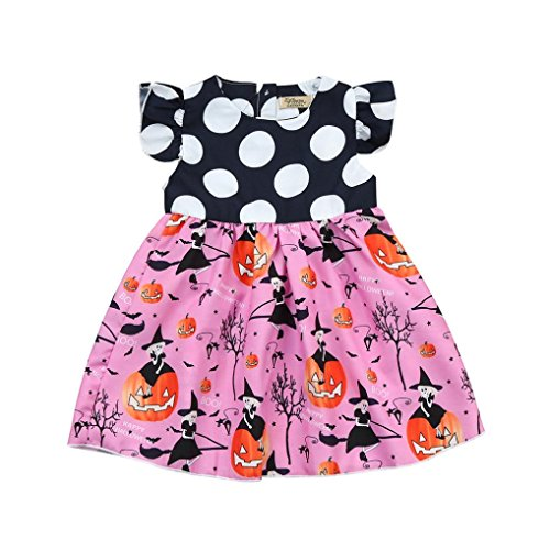 Halloween Kids Baby Mädchen Prinzessin Kleid, yoyoug Kleinkind Kids Baby Mädchen Halloween Kürbis Cartoon Prinzessin Kleid Outfits - Kostüm Gute Ideen Halloween-party