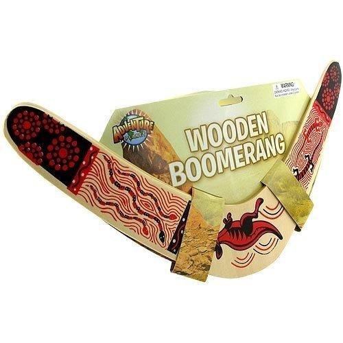 Rhode Island Novelty Holz Boomerang Farben kann variieren -