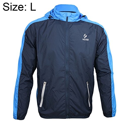 ARSUXEO 007A Warm Male Biking Racing Jacket Coat Waterproof Windproof Long Sleeve Outdoor Clothes, Size: L(Blue)