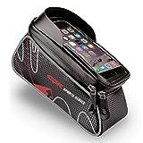 Mothey L Fahrradrahmen Tasche, Reflektierende, Wasserdichte, TPU-Touchscreen Für Smartphones Weniger als 6,0 Zoll Groß, Geeignet Für Alle Arten von Fahrrädern.