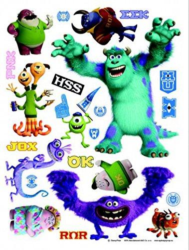 1art1 75241 Die Monster AG - Mike Und Sulley Wand-Tattoo Aufkleber Poster-Sticker 85 x 65 cm