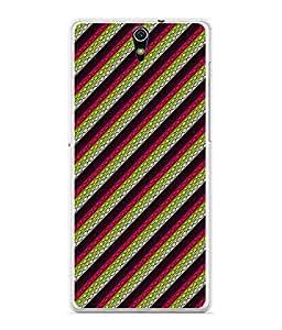 PrintVisa Designer Back Case Cover for Sony Xperia C5 Ultra Dual :: Sony Xperia C5 E5533 E5563 (Lines Stripes Diagonal Colourful)