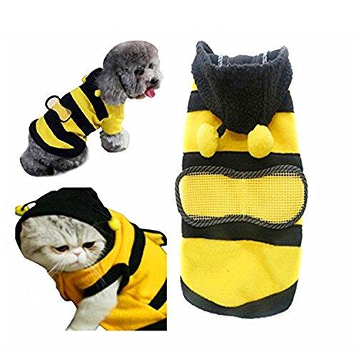 Wilk-Schwarz Gelb Bumble Bee Form Hundemantel Frosch Hund Halloween Kostüme ()