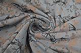 Lillestoff Sommersweat 'Fledermäuse' grau-blau 0,5m