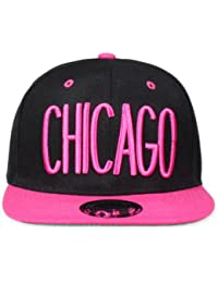 Original Snapback (one size, Chicago City Schwarz / Pink) + Original MY CHICOS Sticker