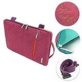 Frixie (TM) trasporto di manicotto protettivo per MacBook Air Pro Ultrabook tessuto di cotone con tracolla per 111338,1cm borsetta sacchetto 15inch
