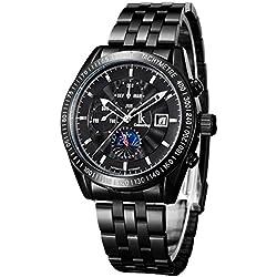 Alienwork IK Automatic Watch Self-winding Multi-function Mechanical Stainless Steel black black 98211G-01