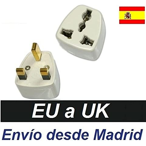 Adaptador Corriente Enchufe España Europa Europeo Europe a UK Irlanda Inglaterra Ireland United Kingdom