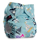 LittleBloom, Reusable Pocket Cloth Nappy, Fastener: Popper, Set of 1