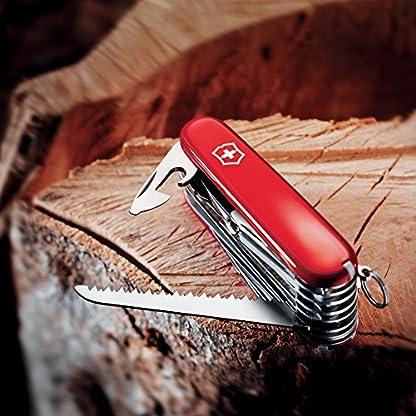 Victorinox Taschenwerkzeug Offiziersmesser Swiss Champ Rot Swisschamp Officer's Knife, Red, 91mm 5