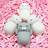 Slow Rising Toys Made By Moginp,4pcs Cute Mochi Squishy Cat Exquisite Fun Scented Charm Relieve Stress Squeeze Healing Fun Kids Kawaii Toy Gift